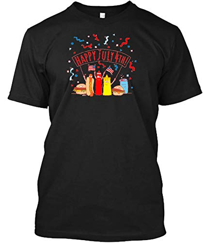 Happy july 4th picnic T-shirt Machine Washable. Comfortable Ring Spun Cotton ()