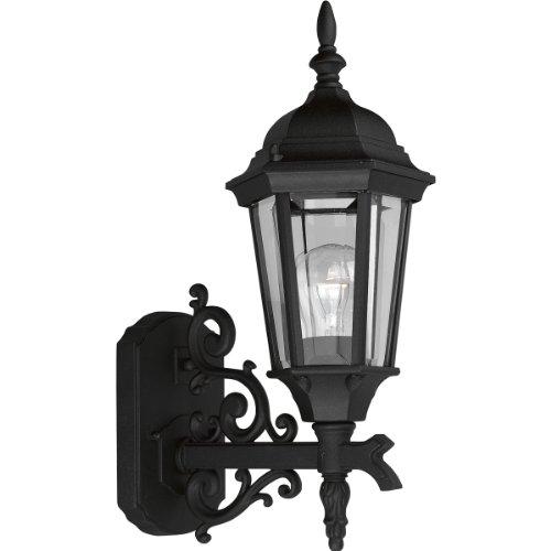 Progress Lighting P5681-31 1-Light Cast Wall Lantern, Textured Black