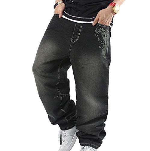 Baggy Boys Fashion Broderie Hommes Denim Impression Hop Exquisite Hip Printemps Jeans Noir Populaire Pants Lannister Mâle Nene qFBtXX