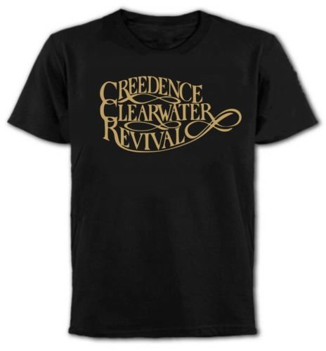 Creedence Clearwater Revival T-Shirt, U.S. Southern Rock, 1970's, All Colours (L) - Clearwater Collection