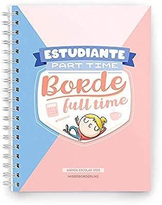 Missborderlike - Agenda escolar 2019-2020 - Estudiante part time borde full time