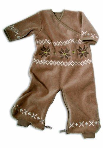 Baby Boum - 1,7 TOG Micro transpirable Invierno saco de dormir polar cum Mono Todo En Uno marrón Talla:9 meses: Amazon.es: Bebé