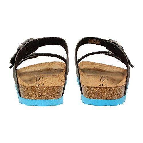 ZWEIGUT Luftig #550 - Sandalias de vestir de Material Sintético para mujer gris oscuro