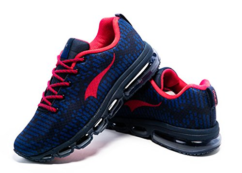 ONEMIX de Zapatillas Competición de Sintético Rojo Running Azul de Marino Unisex Material Adultos fSrpfqw