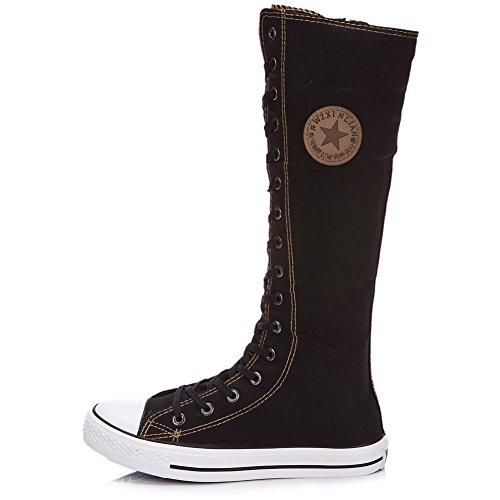 Pictures of rismart Women's Lace Up Tall Punk 7