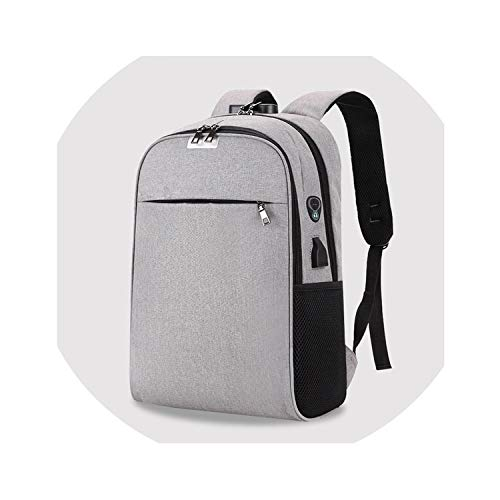 Charging Laptop Backpack 15.6 inch Anti Theft Women Men School Bags for Teenage Girls College Travel Backpack Nylon,Gray ()