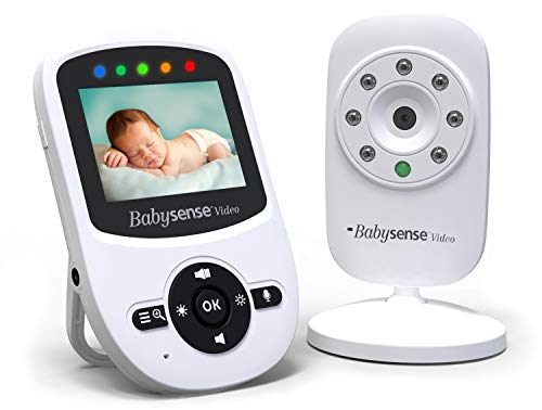Babysense-Video-Baby-Monitor-with-Camera-and-Audio-Long-Range-Room-Temperature-Infrared-Night-Vision-Two-Way-Talk-Back-Lullabies-VOX-and-Long-Battery-Life-Model-V24US