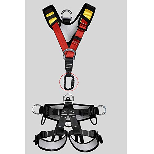 Climbing Safety Belt fire Rescue high Altitude School Operation Rock Climbing Rock Climbing Rappelling Equipment Body Protector Protection by HENRYY (Image #5)