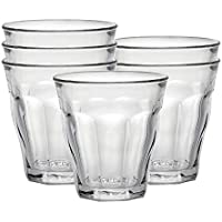 Duralex 1023AB06/6 Made In France Picardie Tumbler Drinking Glasses, 3.13 ounce - Set of 6, Clear