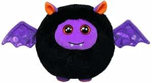 TY 7138118 Beanie Ballz - Murciélago de peluche en forma de bola (12 cm de diámetro), edición limitada