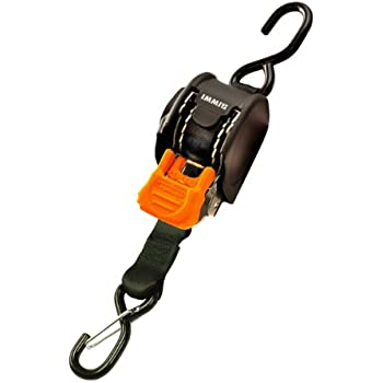 CargoBuckle F111640 Mini G3 Retractable Ratchet Tie Down With Dual S Hooks,  2