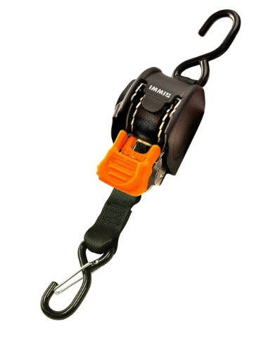 CargoBuckle F111640 Mini G3 Retractable Ratchet Tie-Down with Dual S-Hooks, - Retractable Downs Ratchet Tie