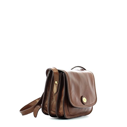 bandoulière The Sac Bridge 24 Braun Story cuir Donna cm aa4Iqz