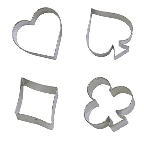 Lchen Cake Cookie Cutter Decorating Diamonds Spade Club Heart Stainless Steel Bakeware - Diamonds Hearts Spades Clubs Poker