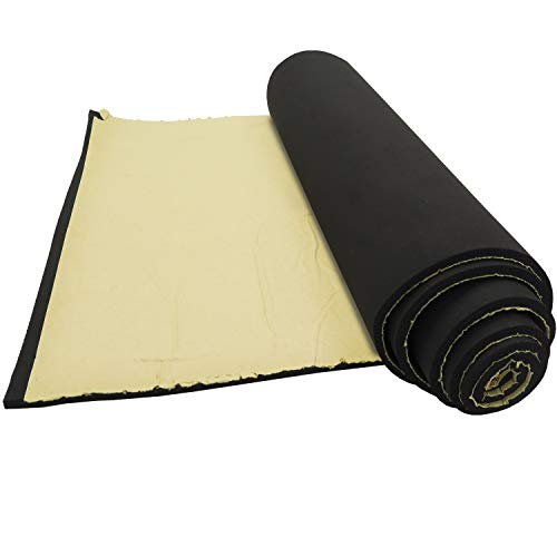 Neoprene Sponge Foam Rubber Roll with Adhesive - 15in x 60in x 1/4in Thick for DIY Projects