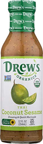 Drew's Dressing/Marinade Thai Sesame Lime, 12 Oz Pack of 6