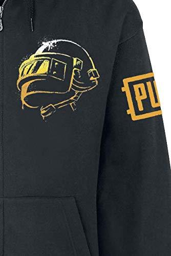 Noire Sweat Avec Glissière Les À Fermeture Capuche shirt Champs Bataille Playerunknown De I8w18P6x
