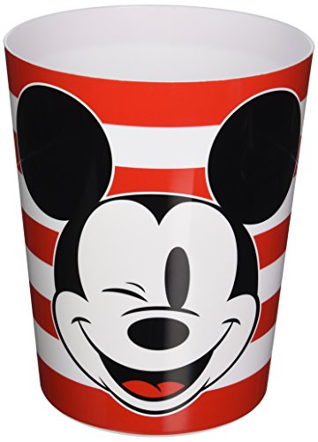 Disney Mickey Mouse Big Face Mickey Waste Basket Disney Plastic Wastebasket