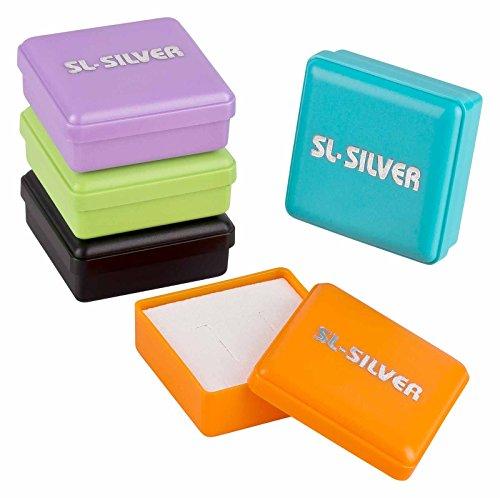 SL de Silver Niños Pendientes roja 925plata peces en caja de regalo