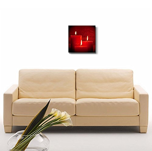 Three Red Candles Wall Decor