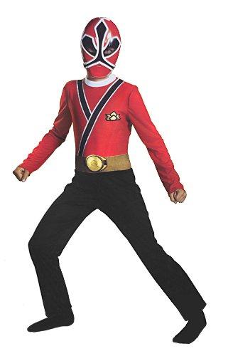 Saban's Power Rangers, Red Samurai Child Costume: Size Small ()