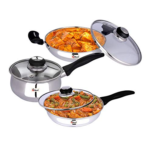 Ebun-Cooking-Set-for-Kitchen-Stainless-Steel-Induction-Base-Medium-Size-Kitchen-Set-for-Home-Cooking-Combo-of-Kadai-Frying-Pan-and-Sauce-Pan-with-Glass-lid