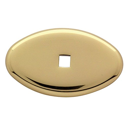 Baldwin 4905.030.BIN Decorative Oval Cabinet Knob Back Plate, Polished Brass - Lacquered