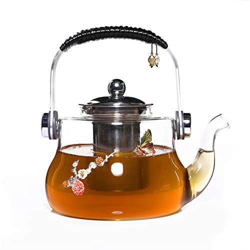 Teiera In Vetro Teiere Brocche Intarsiato In Vetro Argentato Con Filtro Per Tè E Tè In Tazza Di Teiera Per Il Tè Pu'Er Set Di Grande Capacità 1300Ml Prezzi