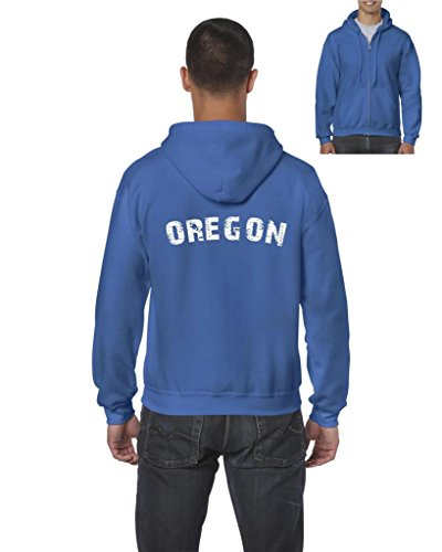 Blue Tees Oregon Home Of Portland Press Herald Fashion Salem Or People Couples Gifts Full Zip Men Hoodie X Large Sapphire Blue