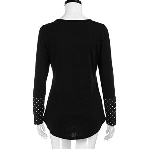 Chic DAY8 Chemise t Elegant Noir Haut Fille Femme Longue Vetement Printemps Femme Shirt Fashion Manche Femme Femme Femme Cher Soiree Ete Pas Casual Mode Blouse Taille Grande Vetement Top q0ACHrwq