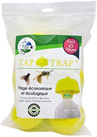 Terra Nostra Wespenfalle Hornissenfalle Obstfliegenfalle, umweltfreundliche Olivenfliegen, Lieferung mit Rezepten für Köder Tap Trap