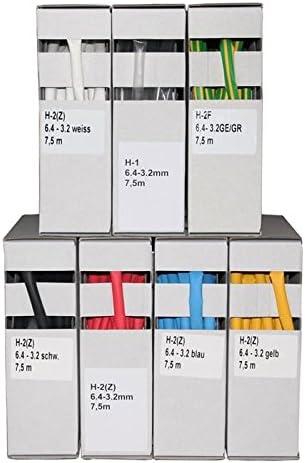 SeKi 14316 Gaine thermor/étractable Noir 2:1//4,8-2,4 mm 9,5 m