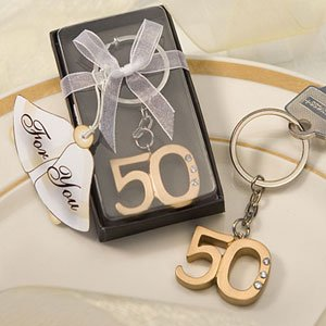 50Th Anniversary Key Ring Favors (10)