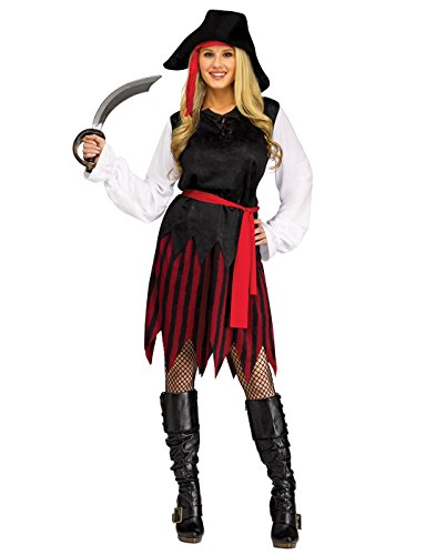 Fun World Women's Caribbean Pirate, Multi, M/L Size 10-14 (Lorac Pirates Of The Caribbean Palette Review)