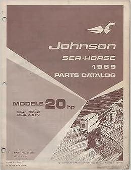 1969 Johnson Sea Horse 20 Hp Outboard Parts Catalog Auto Parts Accessories Repair Manuals Literature