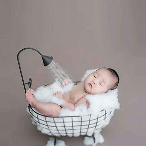 ZAMTAC Iron Studios Basket Shower Bathtub Prop Newborn Baby Photography Accessories Shooting Photo Posing Baby Photography Props - (Color: White) by ZAMTAC (Image #3)