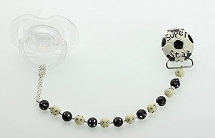 Cristal sueño elegante negro y perlas de color blanco con ...