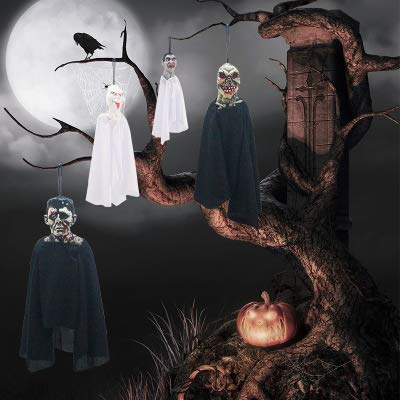 Royarebar Halloween Celebrations Surprise Decoration Novelty Halloween Horrible Zombie Ghost Pendant Hanging Ghost Vampire Props Party Home Ornament