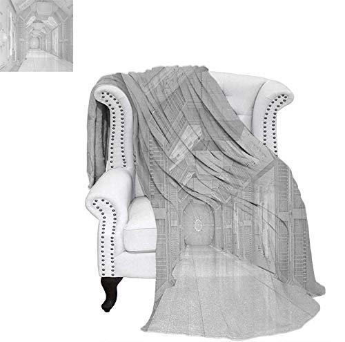 Digital Printing Blanket Extraterrestrial Construction to Visit Astronomical Bodies Cosmonaut Flight Theme Summer Quilt Comforter 60