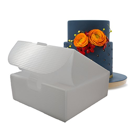 - Innovative Sugarworks Set of 3 Cake Porter Interior Boxes for Transporting Cakes, Pies, Cookies, Cupcakes. Plastic Cake Box, Cake Carrier, Dessert Case, Cake Tiers, and Birthday Cakes, Three Pack