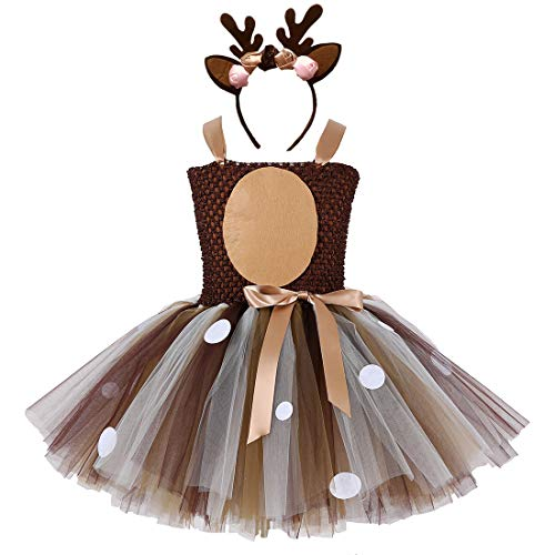 Brown Deer Tutu Dress for Girls Birthday
