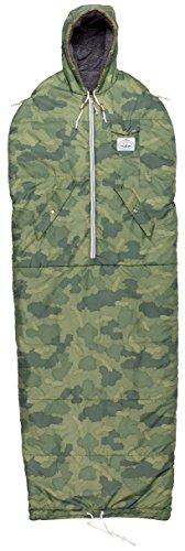 Poler Unisex The Shaggy Napsack Wearable Sleeping Bag, Furry Green Camo, Large