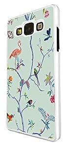 1180–Floral MirrorOutlet rosas Multi pájaros fiamingo diseño para Samsung Galaxy Ace 4tendencia de moda carcasa plástico y delgado Metal–blanco