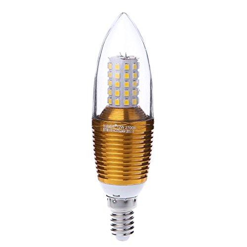 LIYUDL E14 60LED Candle Bulb Light 12W 220V Aluminum Vintage Retro LED Lamp Warm White(Oval)