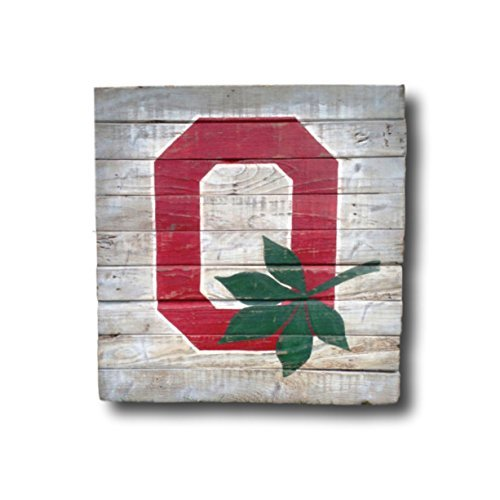 Funlaugh Ohio State Sign Block O Sign High School Graduation Gift Dorm Decor College Graduation Gift Buckeye Man Cave Decor Bedroom Wood Sign with Sayings Home Decor Plaque Sign ()
