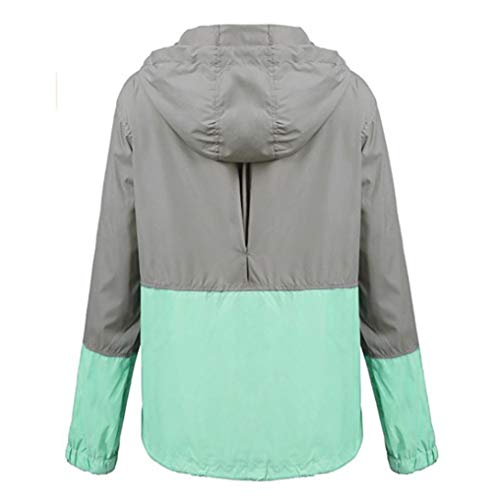 Mujer Portable Deporte UV Impermeable Larga STRIR Proteger Sudadera Chaqueta Manga Rompevientos Rápido Chubasquero Seco Verde Abrigo fnEwxqzFT