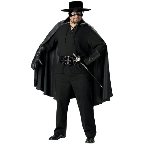 Adult Zorro Bandana With Mask (Bandido Adult Costume - XX-Large)