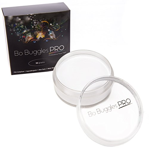 White Face Paint 90 Grams | Classic Colors by Bo Buggles Professional | Water Activated