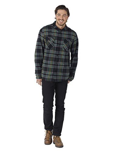 Burton Men's Brighton Flannel Down Shirt, True Black Balsam, Large
