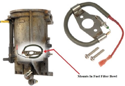 apdty 015321 diesel fuel filter bowl heating heater warm-up element fits  select 1994-